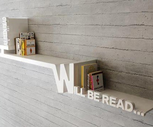 book, shelf, and read image