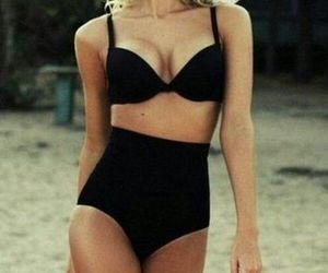 beach, black, and summer image