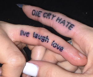 tattoo, love, and grunge image