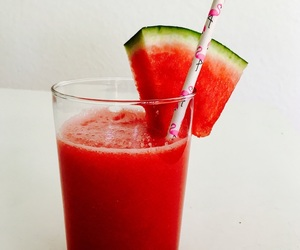 juice, melon, and red image