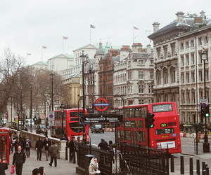 london, city, and bus image