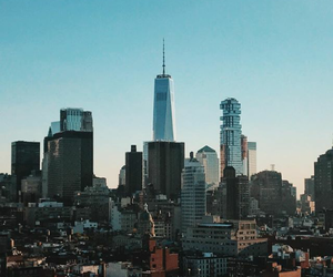 city, buildings, and nyc image