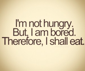 hungry, bored, and food image