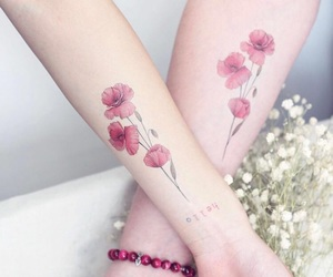 ankle, poppy, and tattoo image