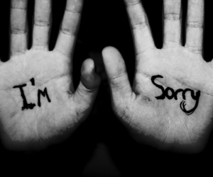 sorry text love image