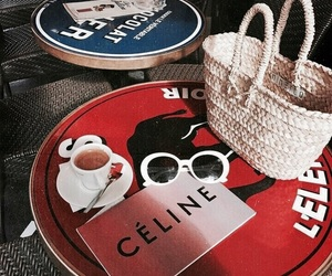 fashion, celine, and coffee image