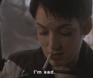 sad, cigarette, and quotes image