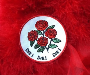 red, aesthetic, and rose image