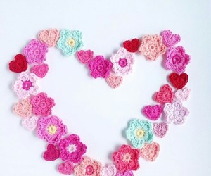 crochet and heart image