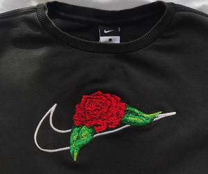 nike, rose, and black image