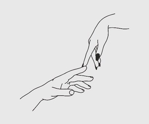 hands, love, and drawing image