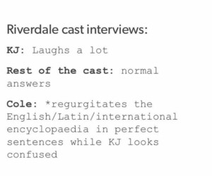 Archie, cole sprouse, and jughead jones image