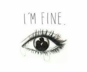 fine, sad, and cry image