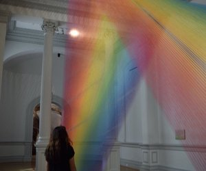 rainbow, art, and museum image