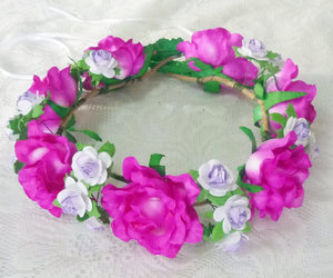 etsy, pink purple, and head piece image