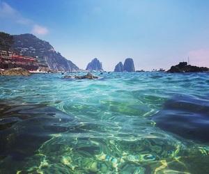 beach, blue, and capri image