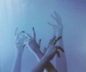hands, grunge, and blue image