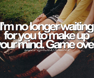 quote, waiting, and game over image