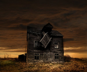 abandoned, Arhitecture, and sunset image