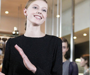 black dress, clapping, and model image