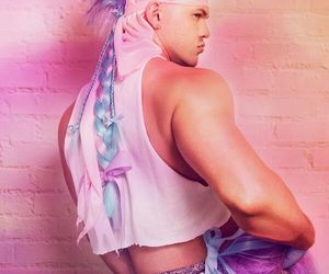 gay, pink, and unicorn image
