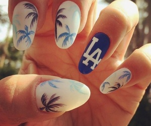 blue, la, and nails image