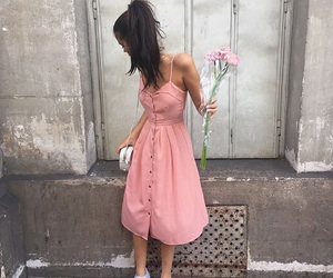 sahar luna, pink, and flowers image