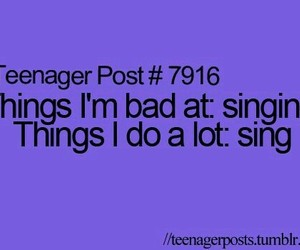 teenager post, sing, and singing image