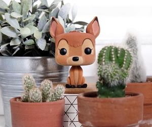 adorable, cactus, and deer image