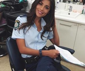 girl, police, and beauty image