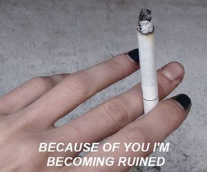 background, iphone, and cigarette image
