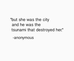 quote, city, and tsunami image