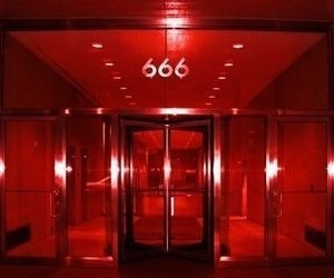 red, aesthetic, and 666 image