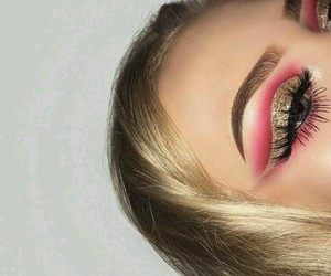 eyebrows, lashes, and makeup image