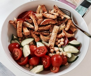 awesome, dinner, and fitness image