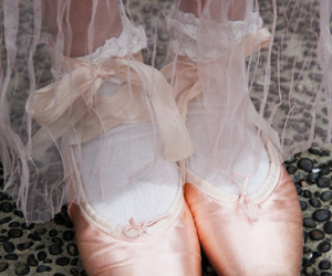 ballet, shoes, and ballerina image
