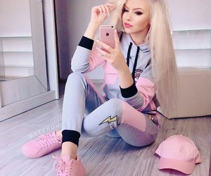 girl, blonde, and outfit image