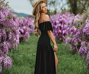 beauty, dress, and long dress image