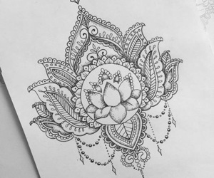 art, tattoo, and mandala image