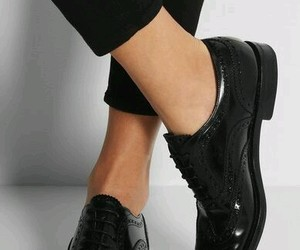 shoes, black, and oxford image