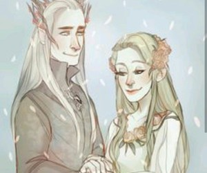 thranduil, Legolas, and hobbit image