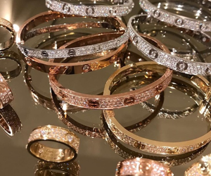 luxury, cartier, and gold image