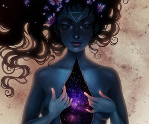 art, galaxy, and universe image