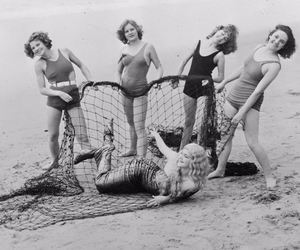 beach, mermaid, and vintage image