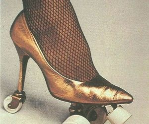 gold, skate, and heels image