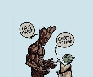 star wars, yoda, and groot image