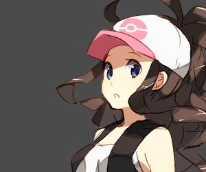 hilda, pokemon, and white image