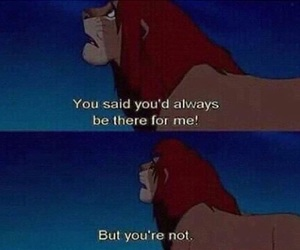 sad, lion king, and disney image