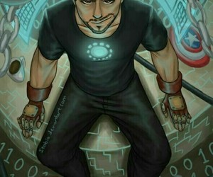 tony stark, iron man, and Marvel image