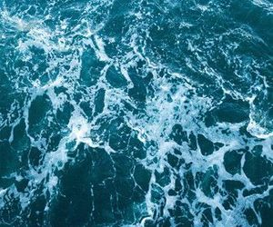 blue, ocean, and waves image